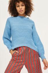 Damen - Pullover Mit Stehkragen Und Lattice Hinten