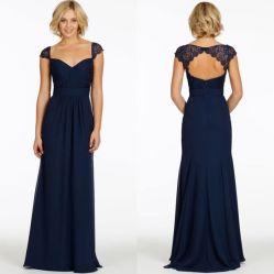 브라이드 드레스 쉬폰 브리데스하어메이드 파티(Bride Dress Chiffon Bridesmaid Party)의 남해군 블루 와인 이브닝 드레스 Z6006
