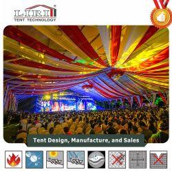 1500 pessoas em alumínio PVC branco tenda Hall com cortinas de casamento