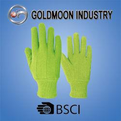 Зеленую пунктирную садоводство безопасность работы рукавицы хлопка вещевого ящика