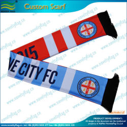Spandex Knitted Polyester Scarf per Fans (T-NF19F10010)