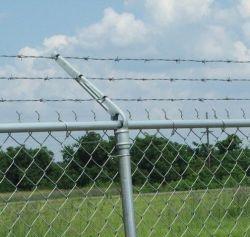 Вьются стальной проволоки сетка звена ограждения высокое безопасных