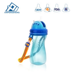 Bebé bebé de plástico de taza de agua potable agua de botella para el comercio al por mayor