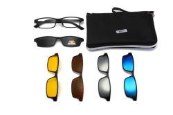 Encaixar óculos polarizados ultraleve Homens Mulheres Armações de óculos Óculos Magnético Tr90 Optical