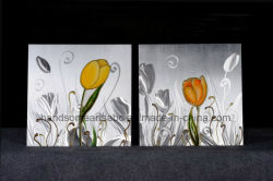 Alumínio Tuiip bonita pintura a óleo / Art / Decoração de Artesanato