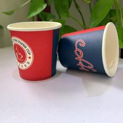 Одноразовый стеклянный сосуд 4 унции одной чашки обоев пользовательских печатных горячий напиток 3oz чашки кофе бумаги с крышкой
