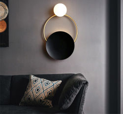 Moderne einfache runde LED-Wandleuchte Kronleuchter Wandkunst
