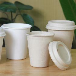 일회용 식기류 대나무 주스종이 음료 커피 컵 콤포피블 파티 크리스마스 천연 사탕수수 과육 컵 공급