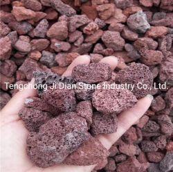 Ghiaia vulcanica nera rossa naturale della pietra della lava del pumicing per l'abbellimento del giardino