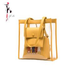 Nuova borsa trasparente impermeabile del Tote della gelatina del PVC per le donne