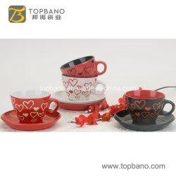 Hot Vente de café et thé Customv Coaster tasse tasse soucoupe Mat cuir en provenance de Chine