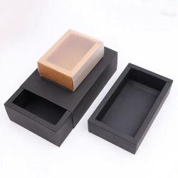 Le logo OEM personnalisé imprimé écologique Chaussettes pliable Boîte de papier de tiroir de l'emballage kraft