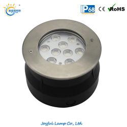 IP68 ضوء حوض سباحة LED غائر في الحائط من الفولاذ المقاوم للصدأ بقدرة 9 واط مصباح إضاءة أفقي بجهد 12 فولت/24 فولت مع مصباح حائط خارجي أرضي لبرك السباحة نوافير شلال