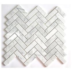 Chorro de agua los patrones de Arte Popular Bianco Carrara blanco y gris mosaico cocina decorativo para pared y suelo Mosaico