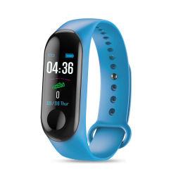 BRACCIALETTO sportivo M3 Smart Watch braccialetto Fitness Tracker frequenza cardiaca Schermata Monitor Blood Oxygen Color (colore ossigeno nel sangue