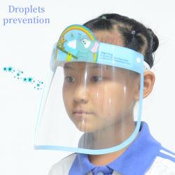 Entrega rápida de películas PET Reutilizável Kids plástico protetor de rosto