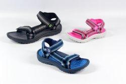 EVA moldeada de la banda de tejido de la playa de verano sandalias para mujer