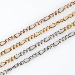 Chapado en oro pendientes de diseño de Bisutería Curb Chain corto y largo plazo Anklet Pulsera collar con colgante de 18 pulg.