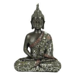 新しい屋内着席の仏の彫像の黙想する樹脂仏はFeng Shuiの装飾的な表の着く