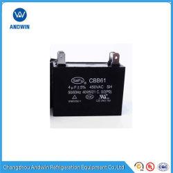 Cbb61 ACモーターコンデンサー(コラム、プラスチックケース)