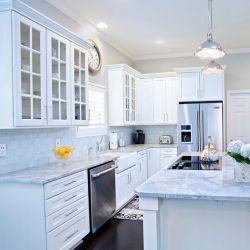 Los diseños de estilo moderno de agitador de la puerta de madera maciza gabinetes de cocina