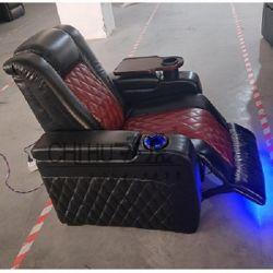 최신 판매 진짜 가죽 전기 Recliner 홈 영화관 소파