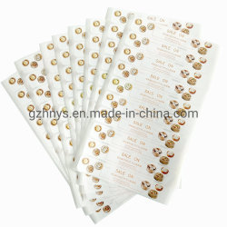 Folha de ouro é personalizado de vinil transparente Adesivo / Rótulos para garrafas de plástico