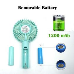 Beweglicher Mini-USB-nachladbarer Handgroßhandelsventilator Handfan, das persönlichen abkühlenden mini elektrische Batterie-Handventilator steht