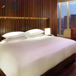 면은 4 절기 호텔 침구 호텔 침구를 위한 침대 시트 깃털 이불 덮개를 놓는다