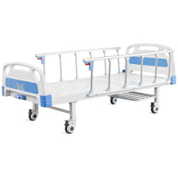 Fábrica OEM ODM barata médicos hospitalarios de alta calidad de inyección de plástico ABS de Enfermería Manual de manivela de paciente enfermo cama plegable cama Ward con caja fuerte Siderails
