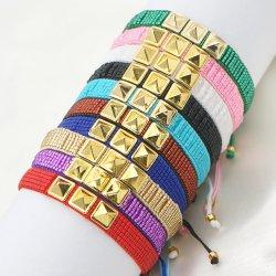 Mlgm ميوكي بيدز براكليت للنساء بذرة يابانية مصنوعة يدويا الموضة المجوهرات دقيقة Rivet مجوهرات مخصصة التقليد قابل للضبط الحبل Pulsera أساور السفر