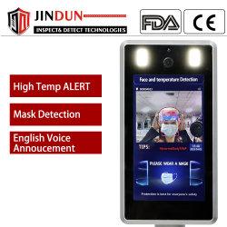 Автоматическое распознавание лиц контроль доступа инфракрасного термометра с датчика температуры