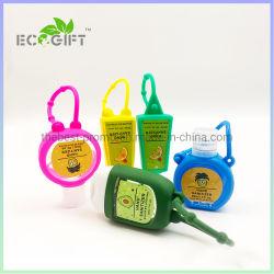Desinfección de la mano Waterless portátiles con soporte de silicona lindo para promoción