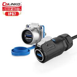 1234567USB Cable/conector impermeable macho a conector hembra/conectores de cable USB