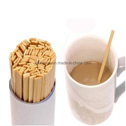 Bambus/hölzerner natürlicher Farben-Kaffee-Mischer u. Eiscreme-Stock