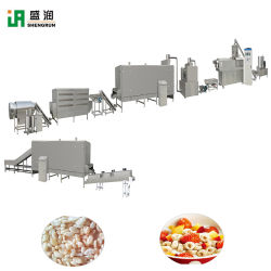 Le traitement des matériaux en acier inoxydable Shengrun délicieux de ligne de ligne de transformation des aliments des flocons de maïs