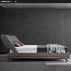 모던한 디자인, 가구들로 덮힌 직물 가죽 침실 가구
