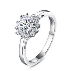 925 Sterling Silver Ring avec CZ Design personnalisé pour le commerce de gros
