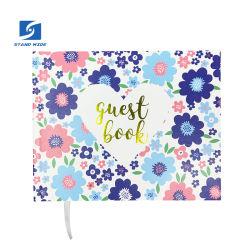 19.5cmx15.5cm kundenspezifisches Geschenk-Einklebebuch-Foto-Album, Wedding Gast-Buch