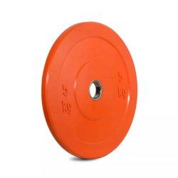 2-pulgada Olímpico Negro Paragolpes de goma Gimnasio Barbells placa placa ponderado para el barbell pesa
