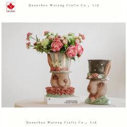 Décoration personnalisée de l'artisanat de résine de gros cadeaux Pot de fleurs de jardin