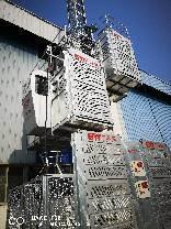 Compartimento Duplo de Elevação Construction Machinery guindaste de construção com velocidade ajustável