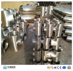 Сшитые из нержавеющей стали для двусторонней печати S31803 сварки встык трубы тройник