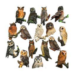 Animal Polyresin Fridge Magnet 3D de la résine Owl aimant de l'artisanat