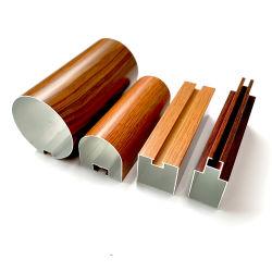 Het Hout van het aluminium beëindigt het Vierkante Profiel van de Buis