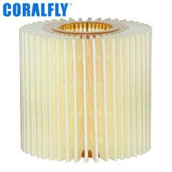 Moteurs diesel Coralfly chariot gros élément de filtre à huile d'usine OEM pour Toyota filtre 04152-31090