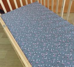 Ultra macio de algodão tricotado Jersey Equipado Cot exemplar para Berço