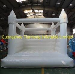 het Springen van de Lucht van 4X4m Huis van de Sprong van de Uitsmijter van het Huwelijk van het Kasteel het Opblaasbare Witte