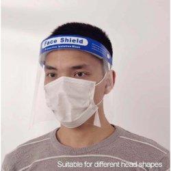 Cross-Border personnalisé Anglais impression PET masque transparent visage Shield personnel Dispositif de protection fabriqué en Chine