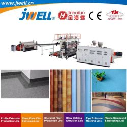 JWell-PVC 플라스틱 넓은 바닥 가죽 | 방수 롤 바닥 층 시트 재활용 유연한 장식을 위한 압출 플라스틱 컵 기계 제작 가죽 고무